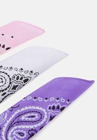 Urban Classics - BANDANA 3 PACK UNISEX - Foulard - violet/white/rose - 1