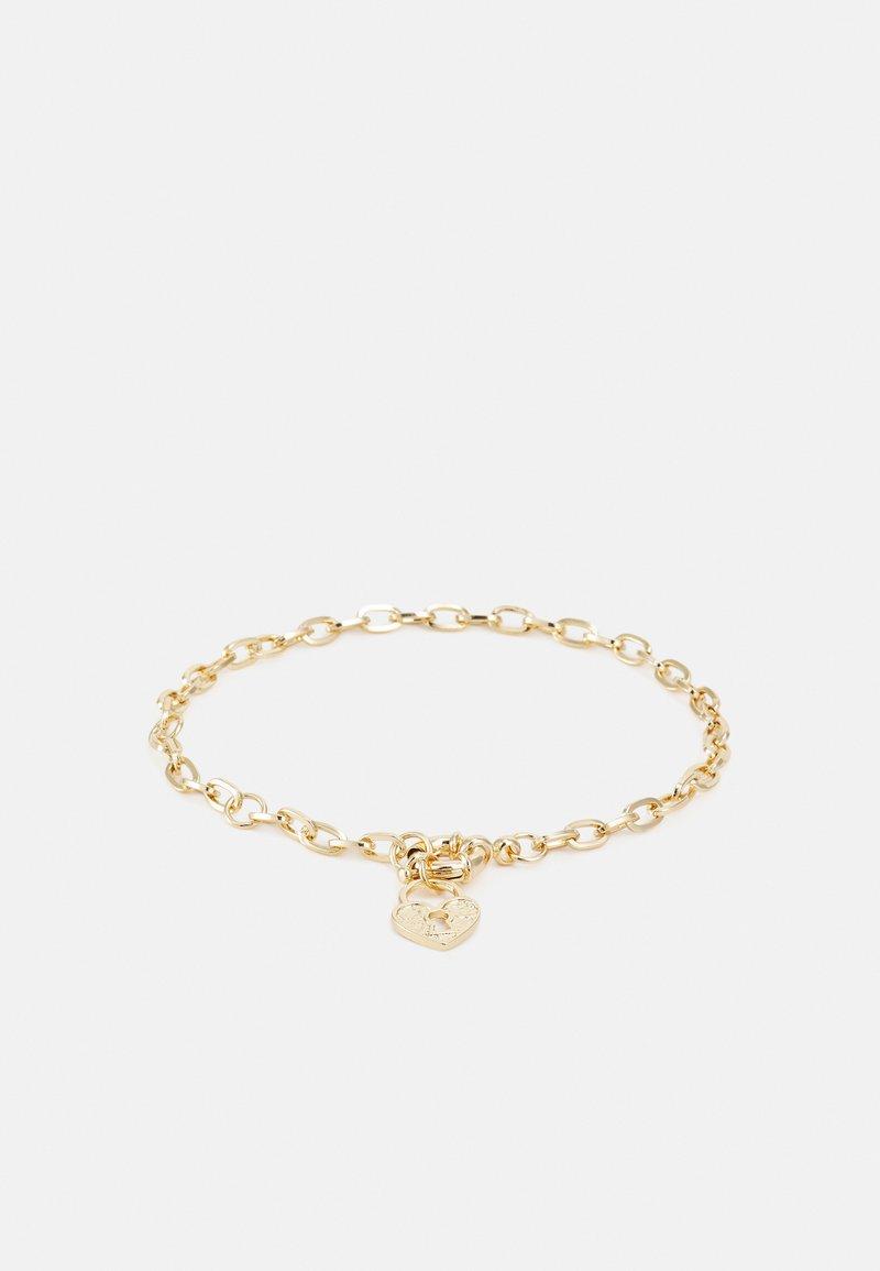 LIARS & LOVERS - HEART PADLOCK ANKLET - Bracelet - gold-coloured