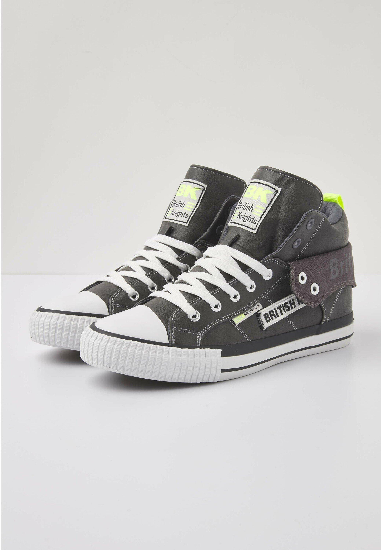 British Knights Roco Tag - Sneakers Dk Grey/neon Yellow
