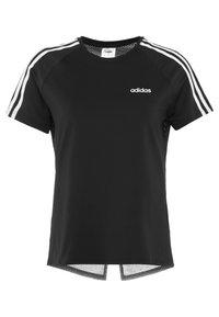 adidas Performance - 3S TEE - Camiseta estampada - black - 5