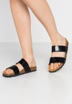 BIABETRICIA TWIN STRAP - Slippers - black