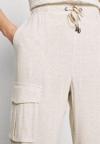 Cream - LORINE PANTS - Trousers - ote melange - 3