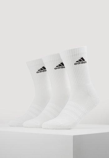 CUSH 3 PACK UNISEX - Sports socks - white/black