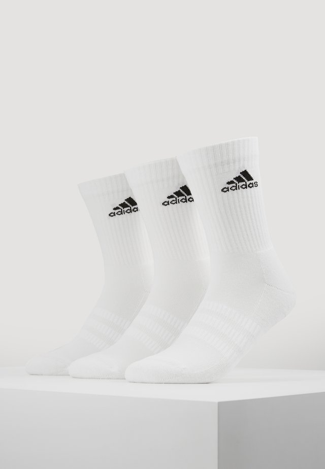CUSH 3 PACK - Sports socks - white/black