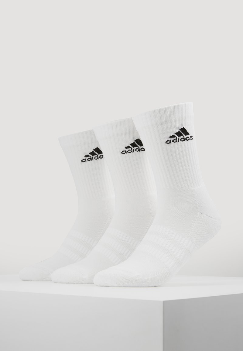 adidas Performance - CUSH 3 PACK - Calcetines de deporte - white/black