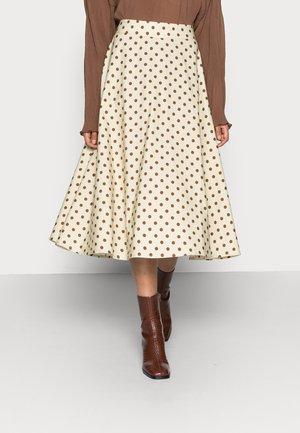 VULAN SKIRT - A-line skirt - brown/cement