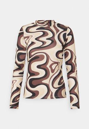 MARILLE LONGSLEEVE - Topper langermet - brown swirl print