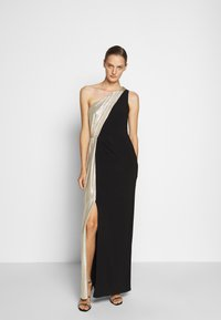 Lauren Ralph Lauren - CLASSIC LONG GOWN  - Occasion wear - black/lannister gold - 1