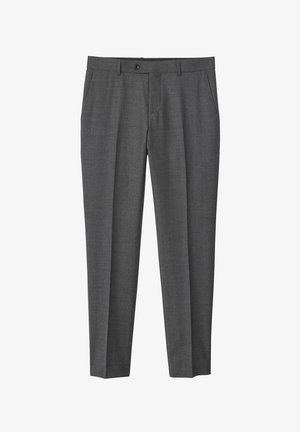 NATHAN  - Suit trousers - grey melange