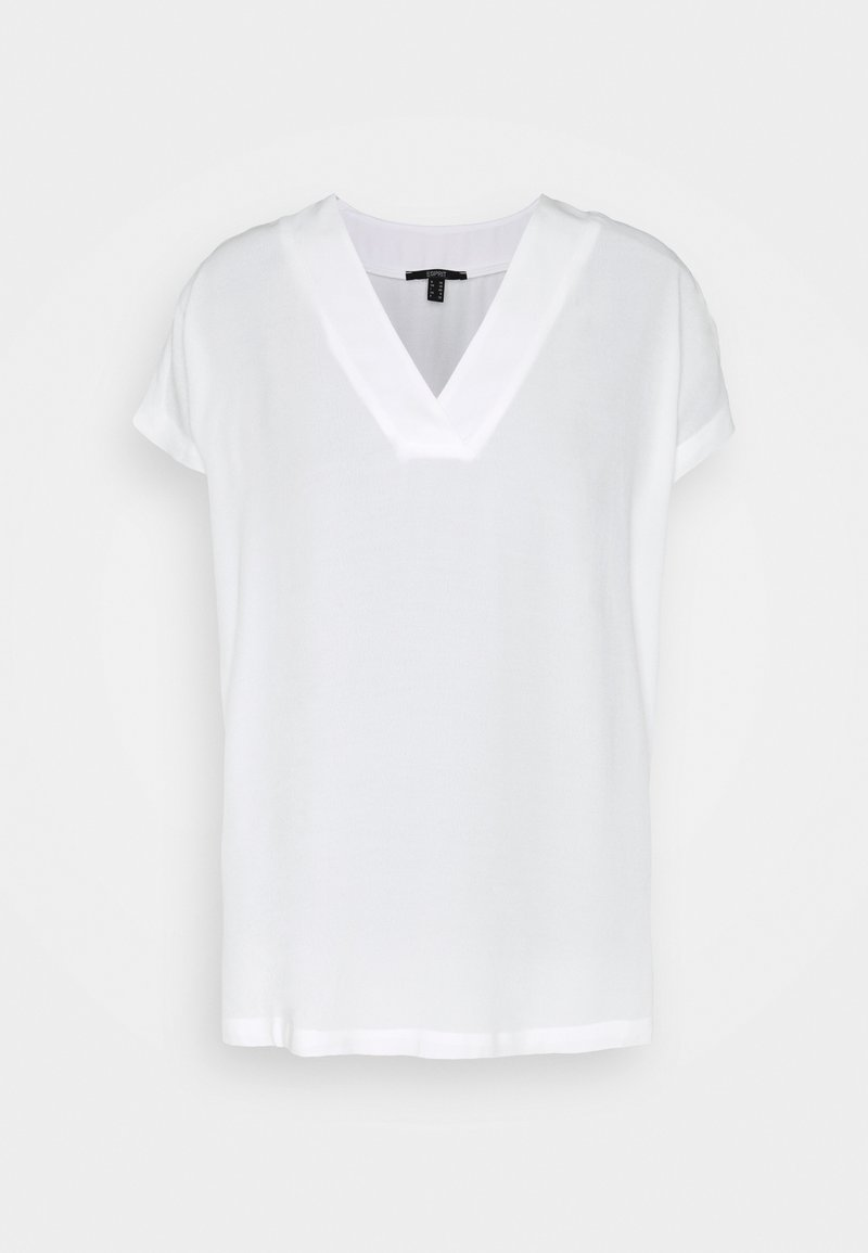 Esprit Collection - BLOUSE SOLID - Basic T-shirt - off white