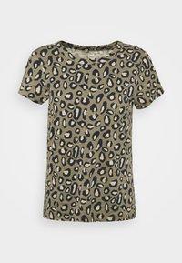 Banana Republic - COZY SLUB CREW - Print T-shirt - cool leopard - 4