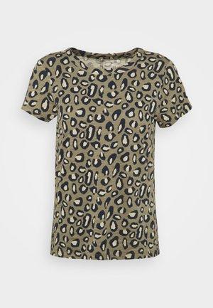 COZY SLUB CREW - Print T-shirt - cool leopard