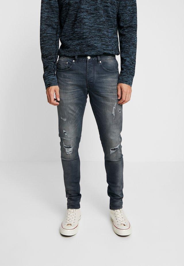 EGO AGAR - Jean slim - dark blue denim