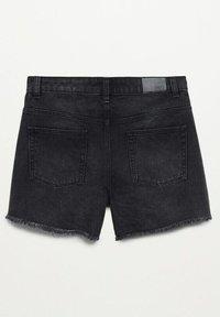Mango - HELEN - Jeans Short / cowboy shorts - black denim - 7