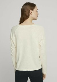 TOM TAILOR DENIM - Long sleeved top - soft creme beige - 2