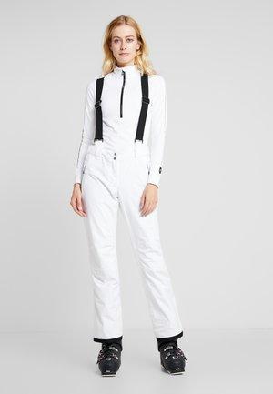EFFUSED PANT - Spodnie narciarskie - white