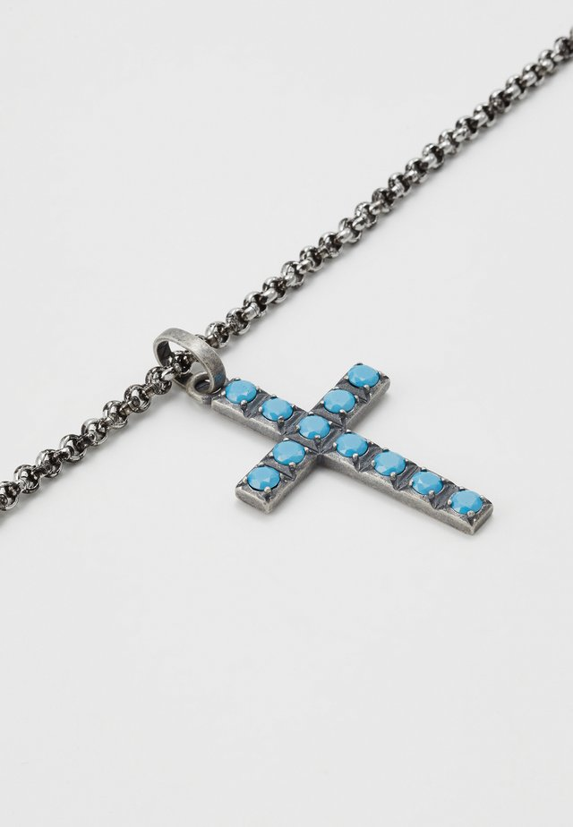 Necklace - silver-coloured/blue