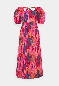 Never Fully Dressed Tall - WHO RUN THE WORLD MIDI DRESS - Vapaa-ajan mekko - pink/red