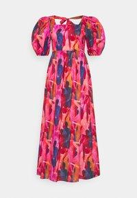 WHO RUN THE WORLD MIDI DRESS - Day dress - pink/red