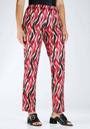 Trousers - schwarz,weiß,rot