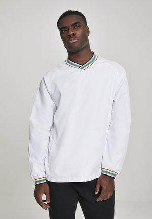 RIB STOP V-NECK PULL OVER - Sweatshirt - wht/multicolor