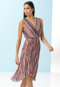 Alba Moda - Day dress - rot/koralle/weiß - 5