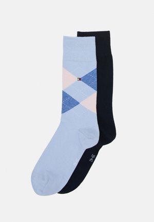 MEN SOCK CHECK 2 PACK - Skarpety - light blue/dark blue