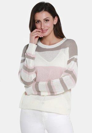 Jumper - beige/pink/taupe