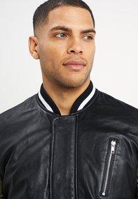 Be Edgy - BESASCHA - Leather jacket - black/oliv - 5