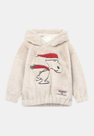 PEANUTS SNOOPY HOODED - Mikina skapucí - ivory