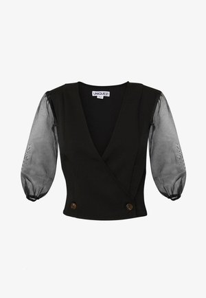 WITH PUFF SLEEVE - Blusa - black