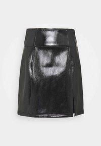 Free People - HOLDING ONTO A DREAM COATED - Mini skirt - black - 0
