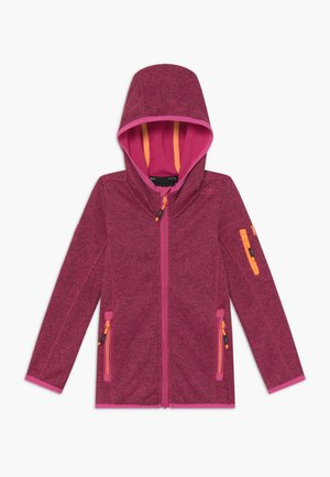 GIRL JACKET FIX HOOD - Mikina na zip - pink