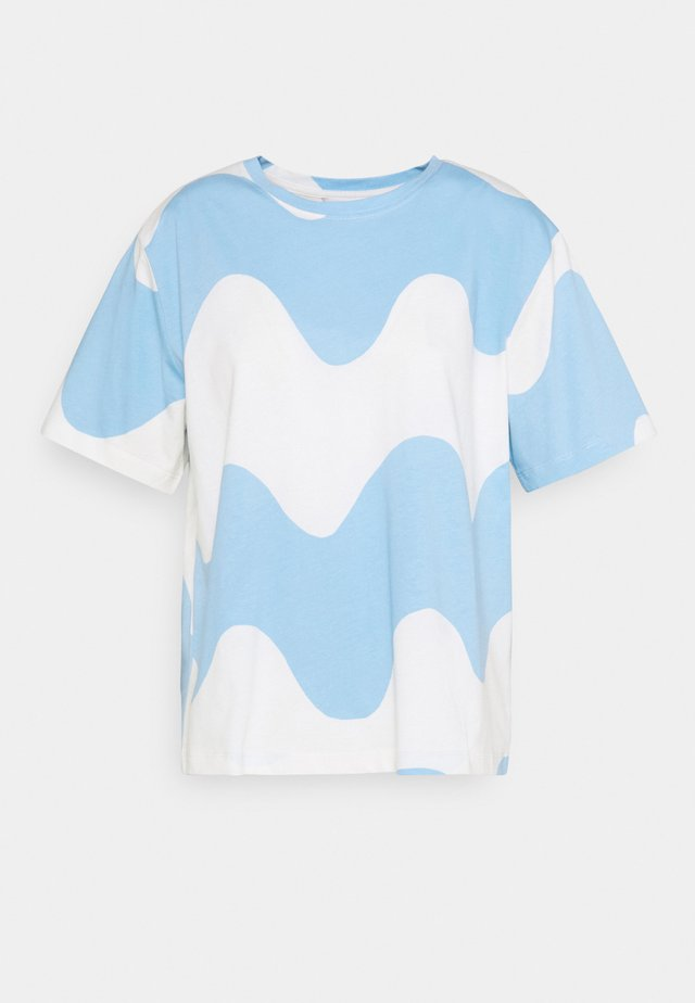 DETERMINANTTI LOKKI  - Print T-shirt - light blue/off white