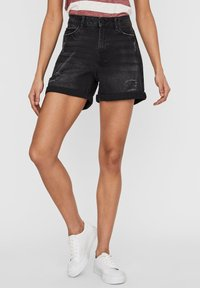 Noisy May - Denim shorts - black denim - 0