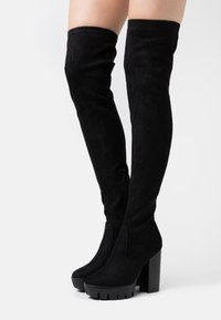 Even&Odd Wide Fit - High heeled boots - black - 0