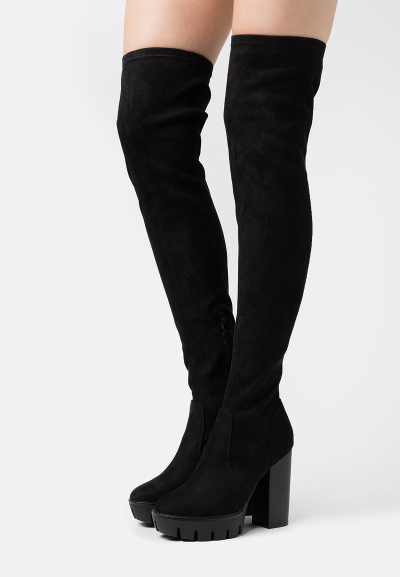 Even&Odd Wide Fit - High heeled boots - black