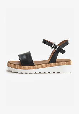 Platform sandals - black white bwh
