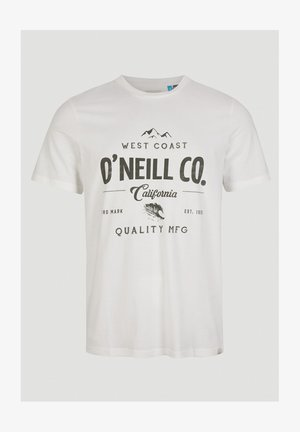 W-COAST - Print T-shirt - powder white