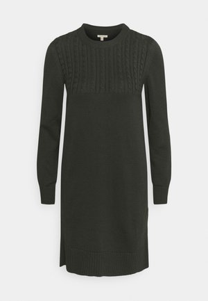 STITCH GUERNSEY DRESS - Jumper dress - olive