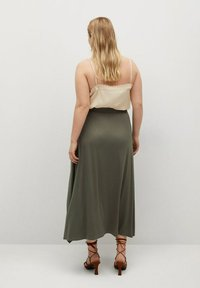 Violeta by Mango - ELSA - A-line skirt - khaki - 2