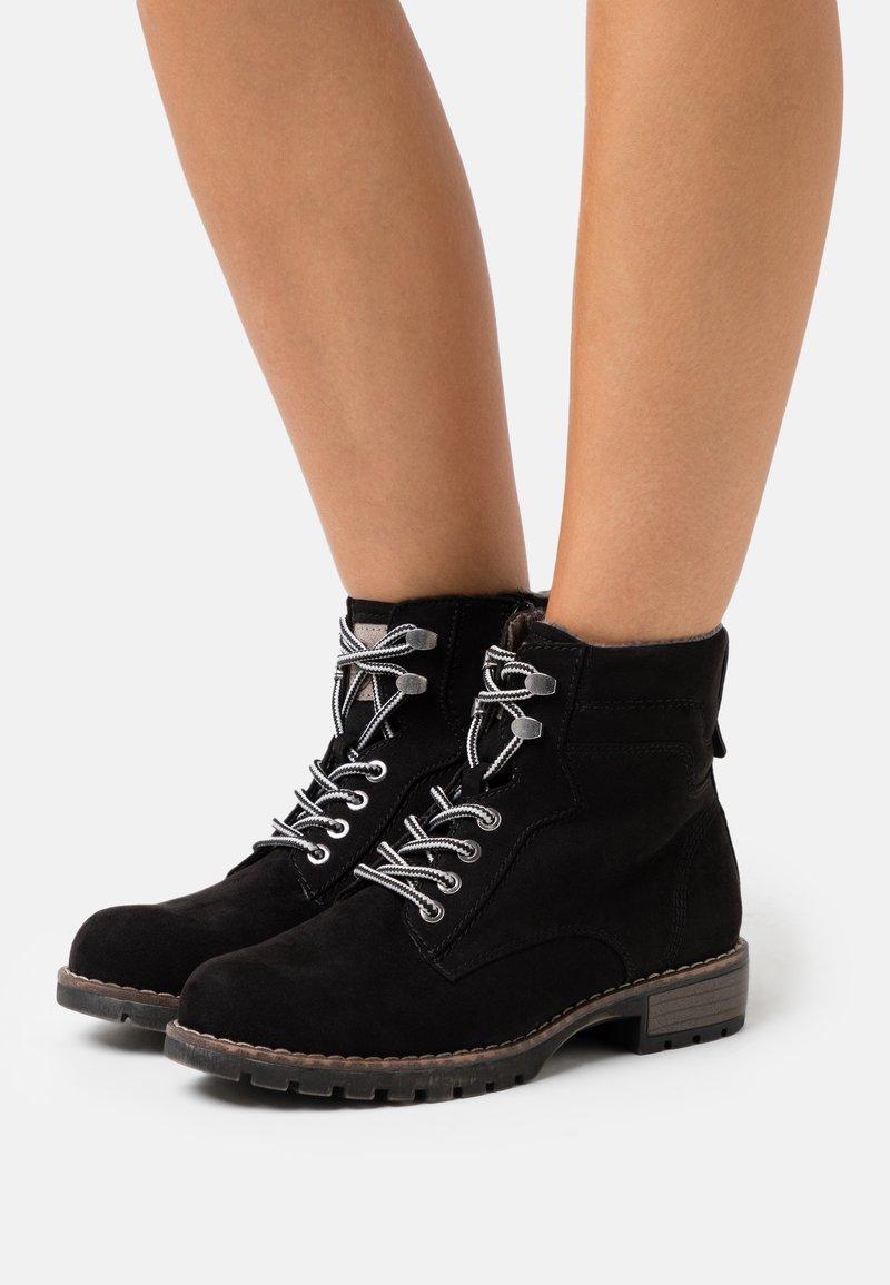 Jana - Lace-up ankle boots - black