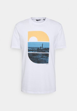 ONSPLAZA LIFE TEE - T-shirt print - white