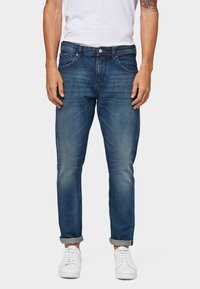 TOM TAILOR DENIM - Slim fit jeans - used dark stone blue denim - 0