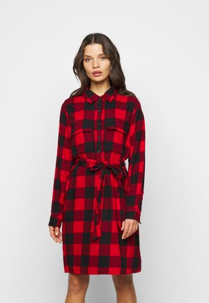 UTILITY DRESS - Shirt dress - red
