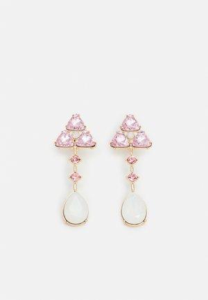 PCSANDIE EARRINGS - Korvakorut - gold-coloured/pink