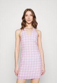 Glamorous - MAYA HALTER TIE-BACK MINI DRESS WITH OPEN BACK AND LOW V-NECK - Day dress - lilac - 0