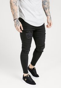 SIKSILK - DISTRESSED SUPER  - Jeans Skinny Fit - black - 4