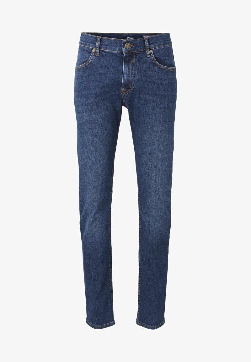 TOM TAILOR DENIM - Slim fit jeans - tinted blue denim