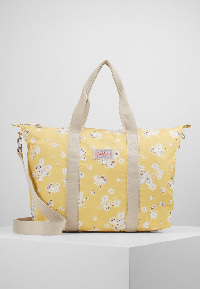 FOLDAWAY OVERNIGHT BAG - Tote bag - soft yellow